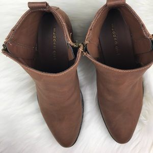 Madden Girl Shoes - Madden Girl | Brown Ankle Boot Side Zipper Sz 7.5